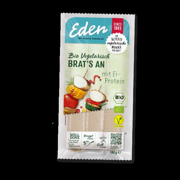 Eden Brat's an vegetarischer Bratwurst